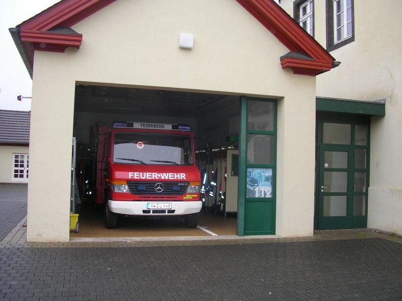 Fahrzeughalle mit dem TSF-W