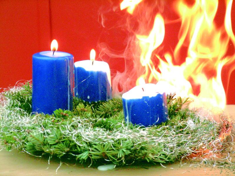 Erhöhte Brandgefahren zu Weihnachten