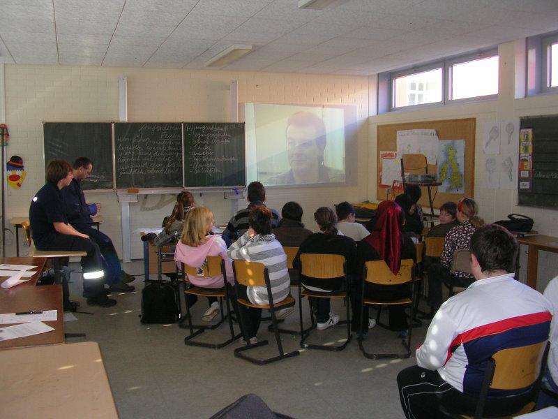 Vorführen eines Lehrfilm