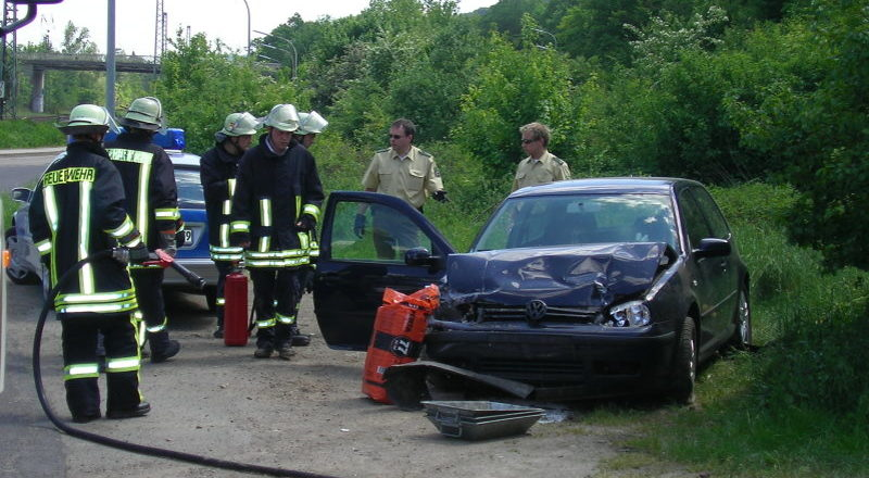 Fahrzeug nach Verkehrsunfall