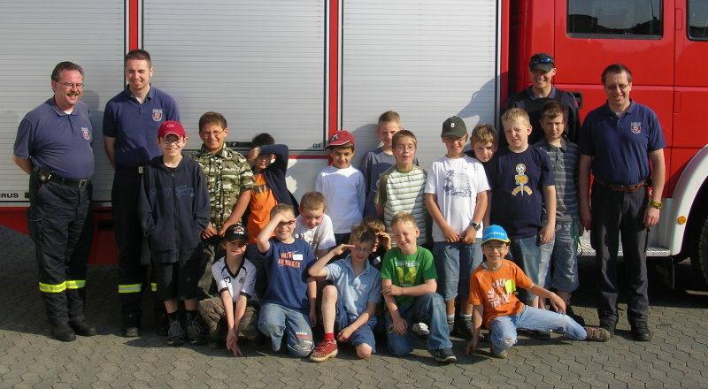 """Projektgruppe """"Feuerwehr"""" 2008"""