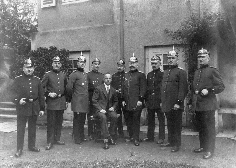 Führercorps der Sinziger Wehr 1927