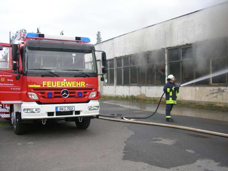 Brand der MPG Hallen