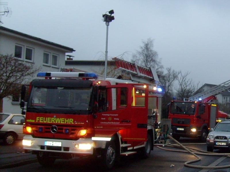 Dachstuhlbrand Neujahr 2008