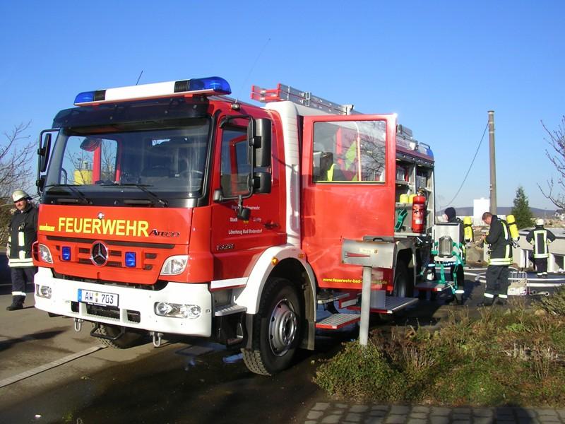 Werkstattbrand im Industriegebiet