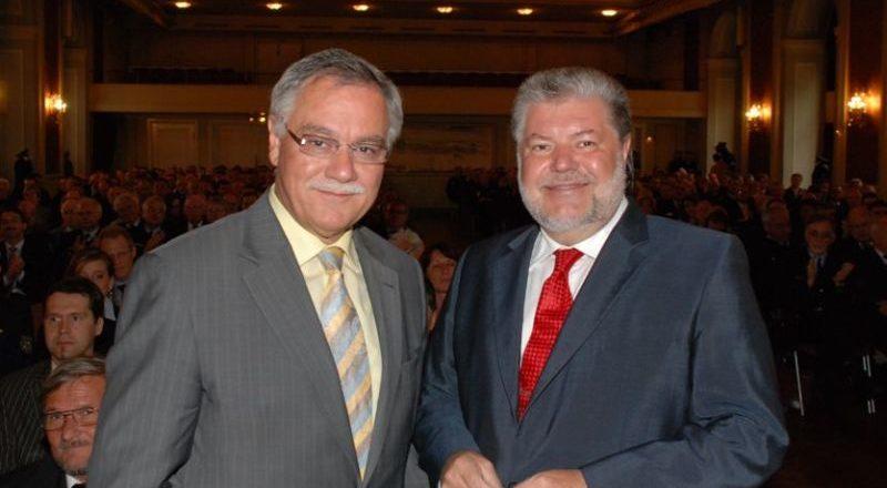 Kurt Beck und Karl Peter Bruch beim Festakt