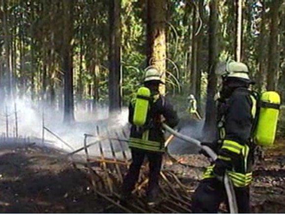 Viele Einsatzkräfte eilten zum Brandort