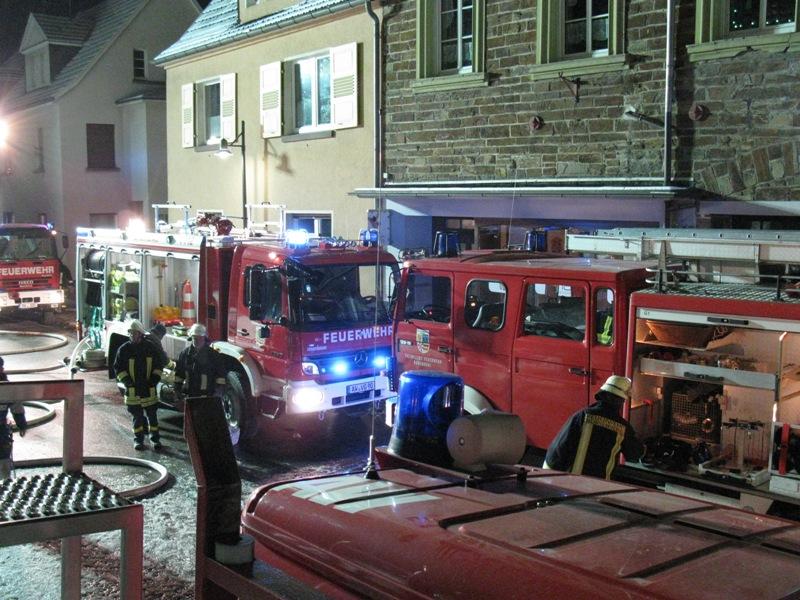 Alle Feuerwehren des Umlandes waren vor Ort