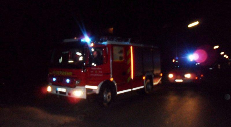 Feuerwehr war mit zwei Fahrezeugen vor Ort