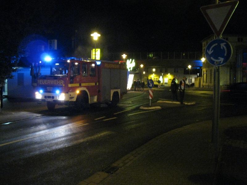 Wieder brannte es in Bahnhofsnähe