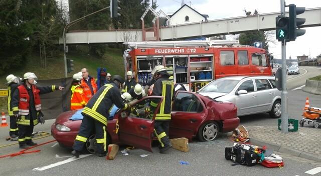 Unfall an der Ampelkreuzung der B9 in Remagen Unfall an der Ampelkreuzung der B9 in Remagen