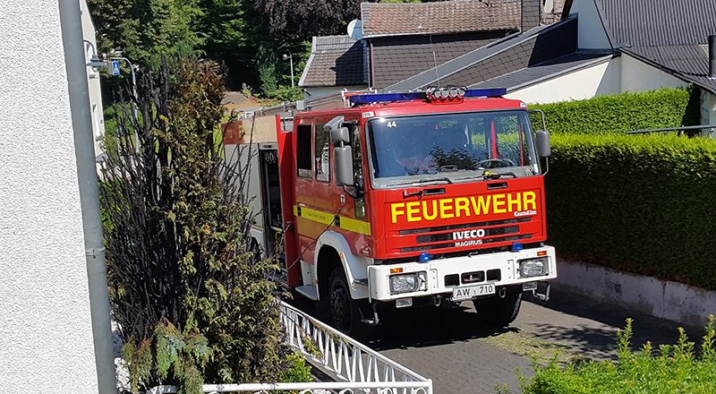 Heckenbrand in Westum