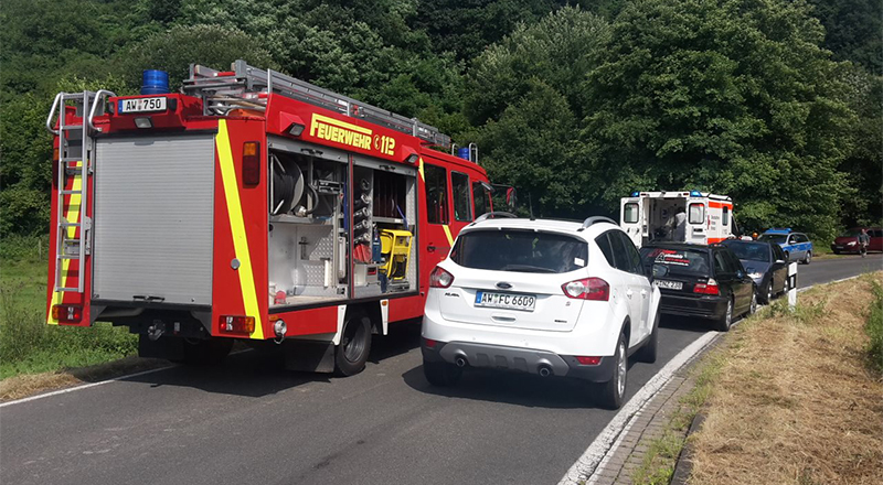 Verkehrsunfall in Franken