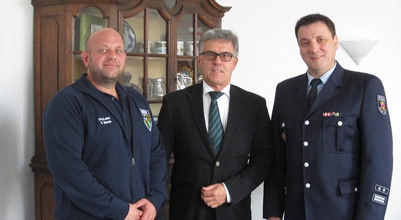 Bürgermeister mit Andreas Braun und Tobias Michels