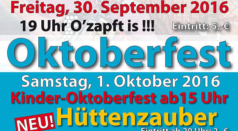 Plakat des Oktoberfest der Feuerwehr Sinzig