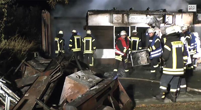 Brand der Cäciliahütte