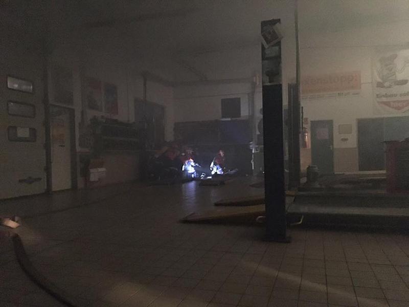 Brand einer Autowerkstatt