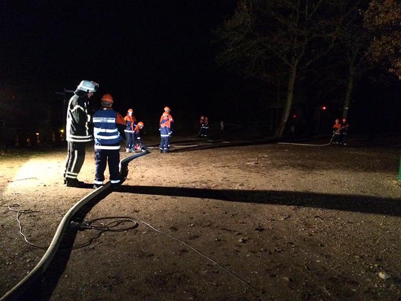 Brand auf dem Mühlenberg