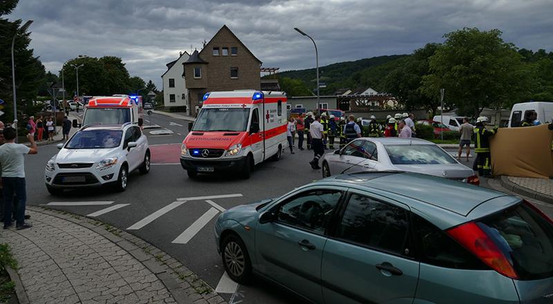 28.07.2017 - Verkehrsunfall Wallstraße
