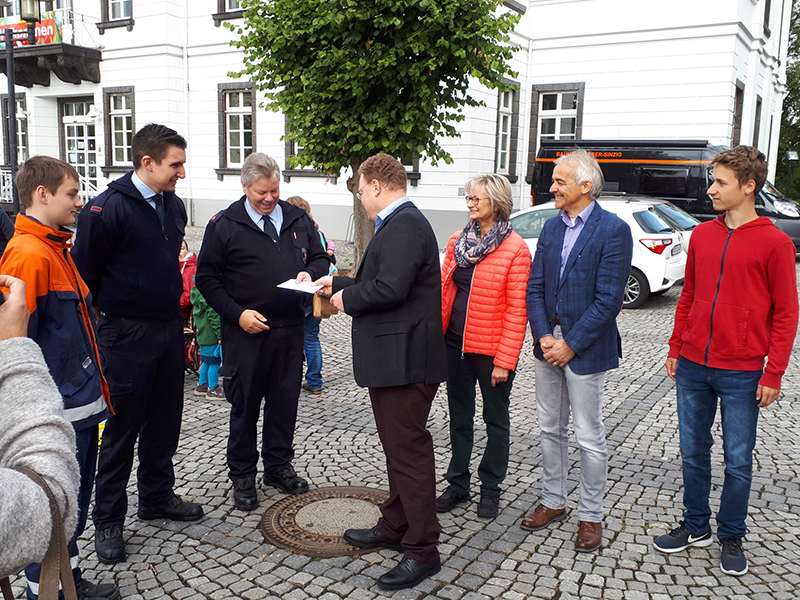 03.10.2018 - Spendenübergabe der CDU Kirmesbude