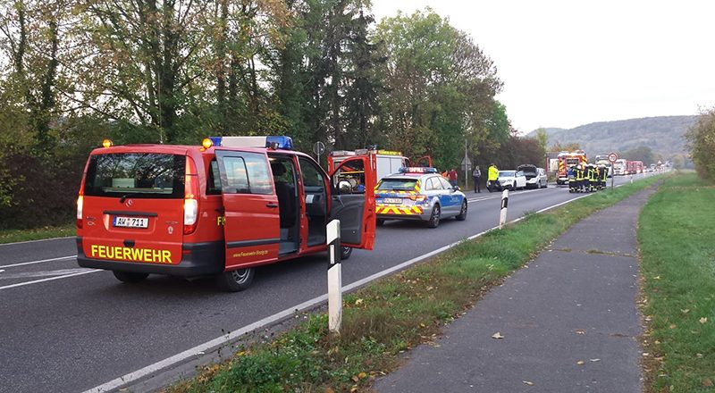 15.10.2018 - Verkehrsunfall B 266 in Bad Bodendorf
