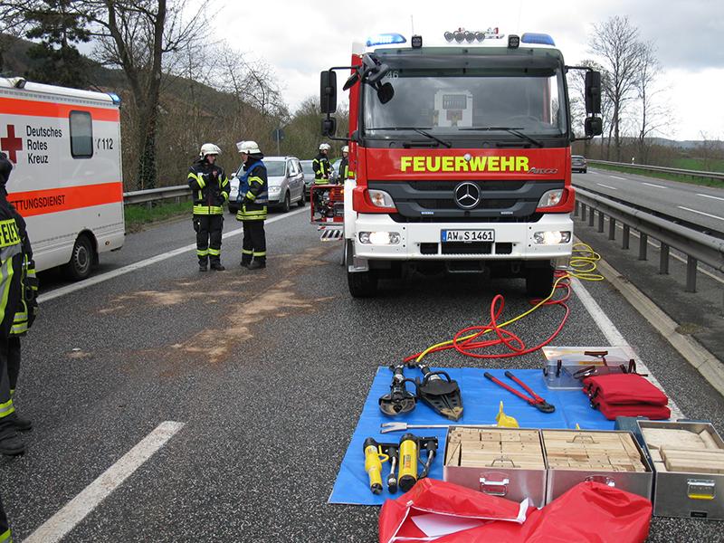 25.03.2019 - Schwerer Verkehrsunfall auf der B9