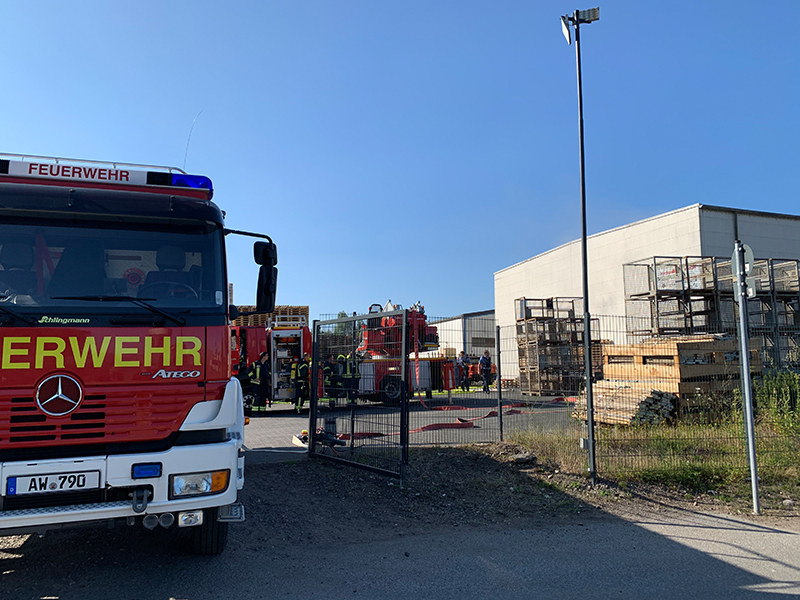 24.06.2020 - Hallenbrand